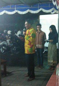Drs. Alexandr Luthfi R., M.S. Dekan FSMR ISI Yogyakarta memberikan sambutan pada pembukaan pameran di Jogja Gallery