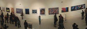 Pengunjung pameran dan penayangan seni media rekam di Jogja Gallery Jl. Pekapalan pojok Alun Alun Lor Yogyakarta