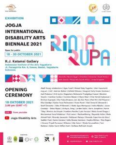 Pembukaan Pameran Jogja International Disability Arts Biennale 2021 di Galeri R.J Katamsi